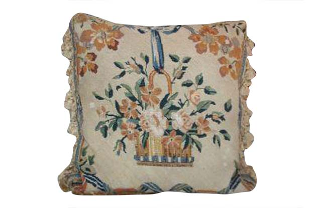 19th Century French Needlepoint Pillows