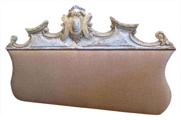 19th Century French Decorative Overdoor Mounted as Headboard- Benton