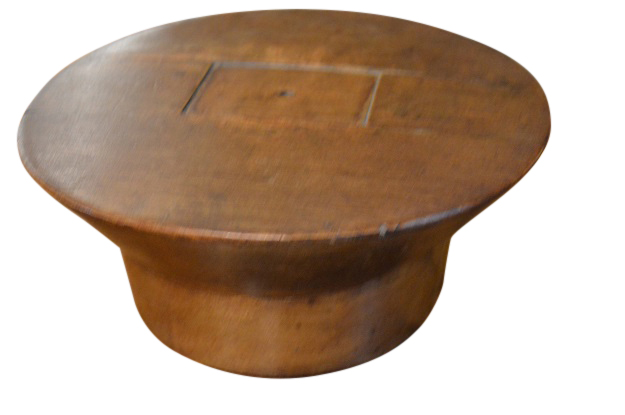 English vintage wooden hat mold form from early 1900s