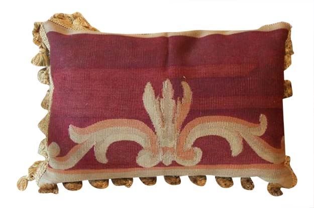 19th Century French Aubusson Tapestry Pillow
