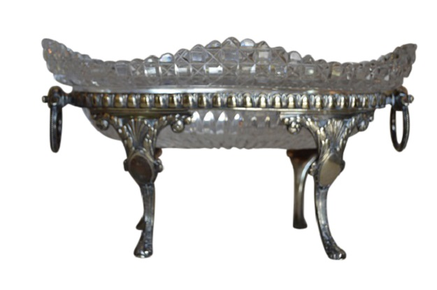 Silver and Crystal Epergne