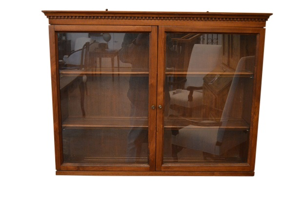 Mid 20th Century Hanging Display Cabinet with Glass Doors