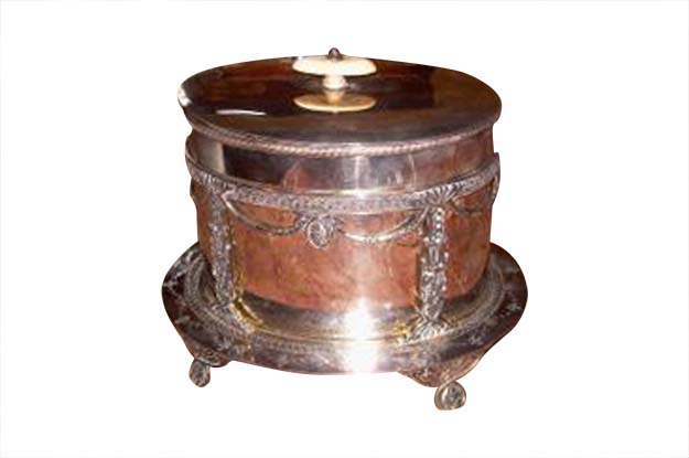 19th Century Silver Italian Biscuit Barrell