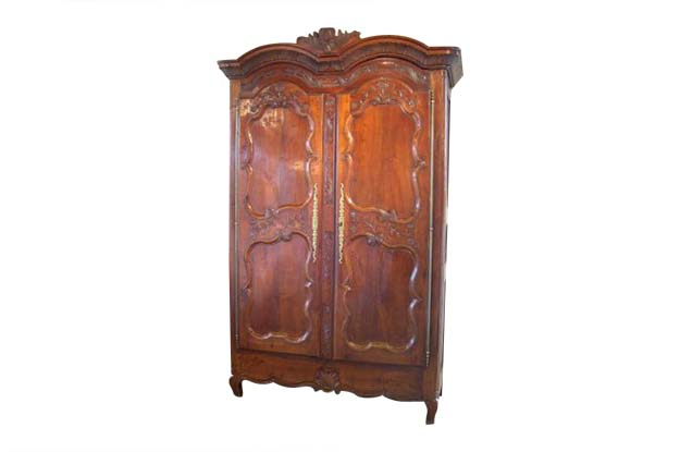 French 19th Century Cherry Armoire from Rennes