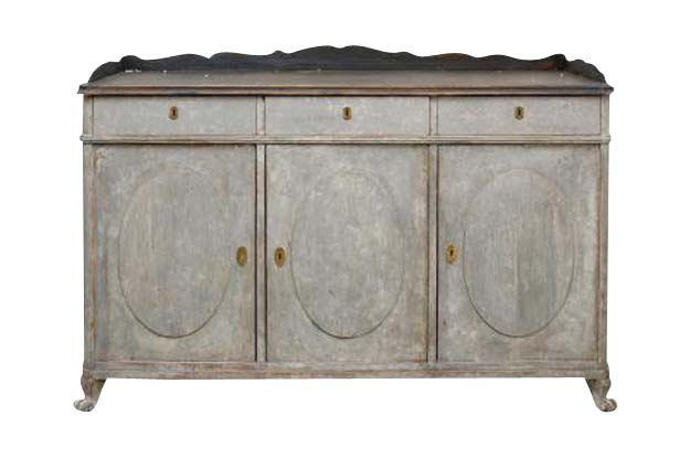 Late 19th Century Painted Swedish Sideboard-Pent