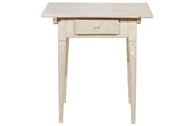 Småland Swedish Gustavian Style Painted Side Table, circa 1880