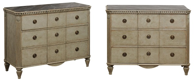 ON HOLD - Swedish 19th Century Pair of Chests
