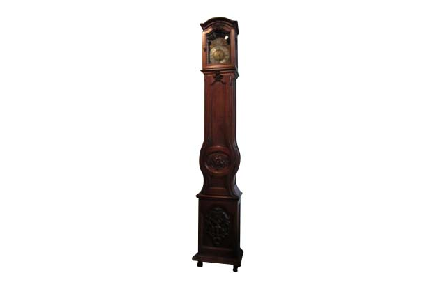 French Louis XV Period Walnut Longcase Clock from the Rhône Valley, circa 1760
