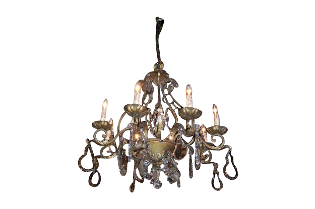 French Late 19th Century Chandelier, Circa 1895